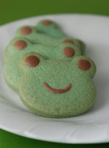 Frog cookies♡