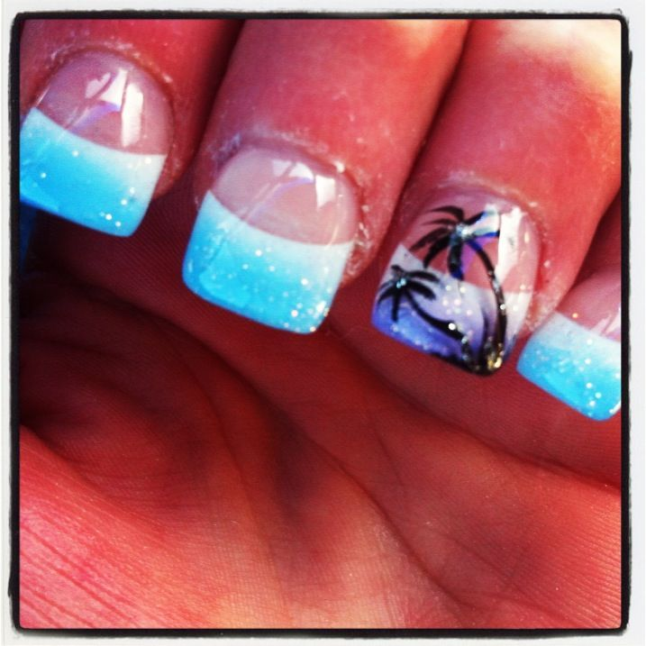 My Spring Break Tropical Nails I Got Done This Morning!! #PamperedGirlfriend…