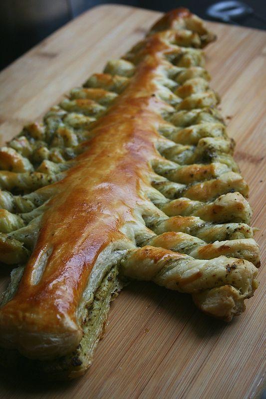 Sapin feuillet ap ritif de noel 6 cuisine pinterest for Pinterest cuisine noel