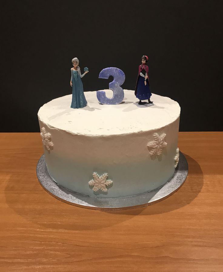 Frozen Buttercream Cake.