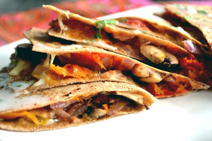 Quesadillas Vegetarianas + Tortillas caseras integrales