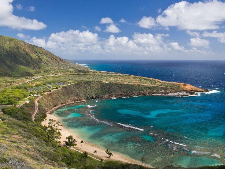hawaii, usa, тропические, горы, море, океан, пляж, природа, pacific ocean
