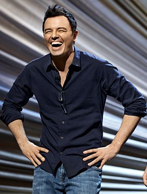 Seth MacFarlane laughing... Is it just me or does Stan Smith (of American Dad) look a lot like him? Lol