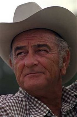 "Just looks like somebody's grandpa, an old ranchman, here. :) (""Lyndon B. Johnson in retirement, early '70s."")"