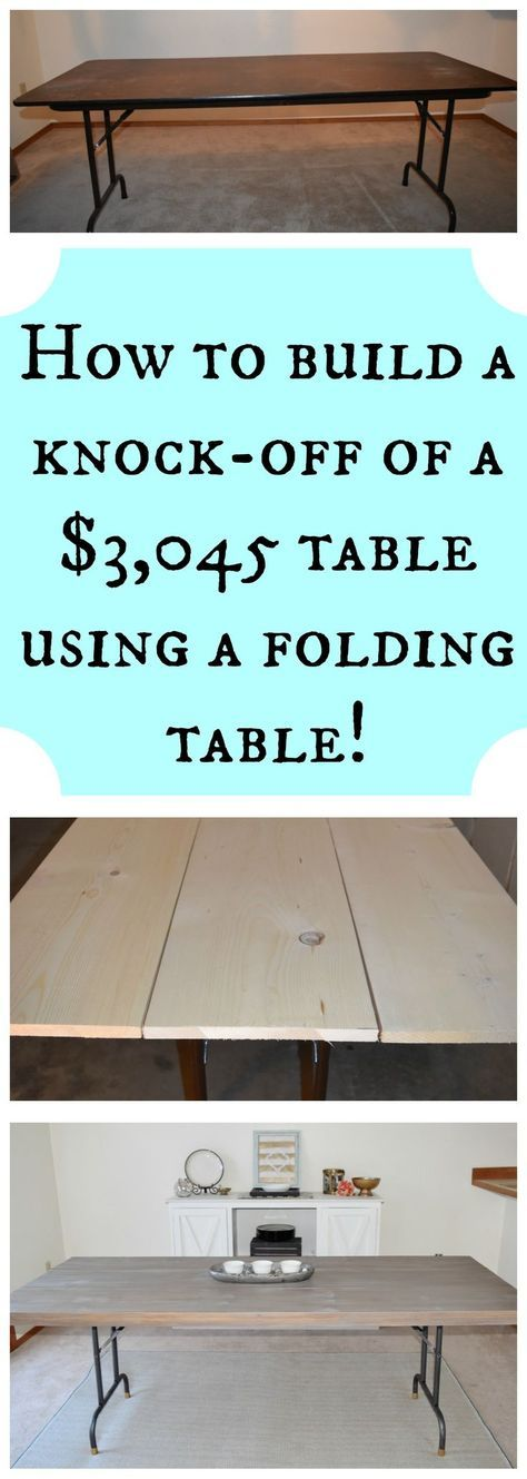 DIY - High-end dining table knock-off. How to build a plank farmhouse industrial dining table.