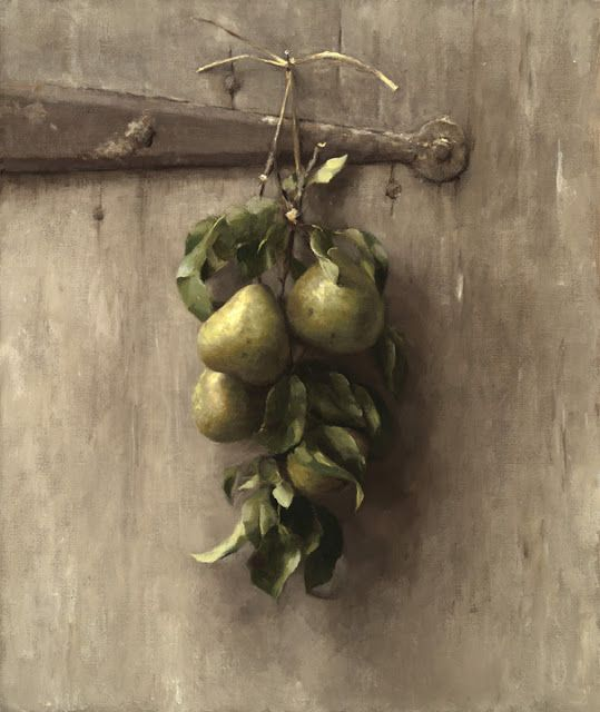Sarah Lamb. Pears. 19 X 16 in. Oil on canvas