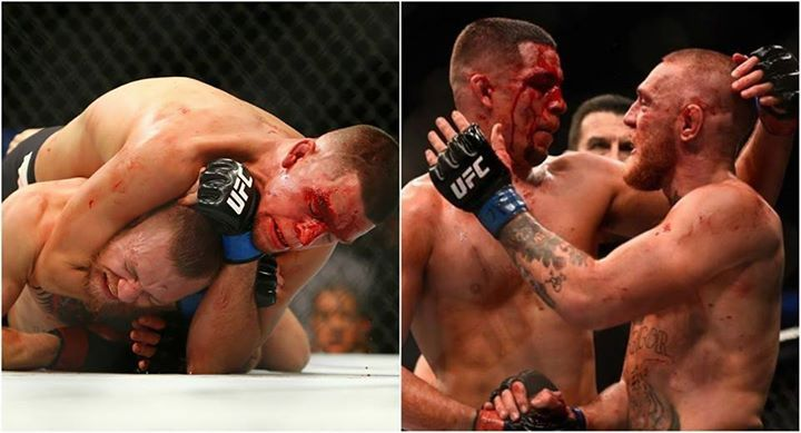 """John Kavanagh on McGregor after the first Diaz fight (via news.com.au): """"We said to Conor afterwards, 'what do you want to do next? They'll still give you the lightweight title if you want'. And he was like 'no, I want to fight Nate'. And in my head I'm thinking 'why do you want to fight him again? He is terrifying'. When I was in the corner and you just see Nate plodding forward. And Conor has really nice technique on his hands and clearly has a very hard punch and Nate could just take them…"""