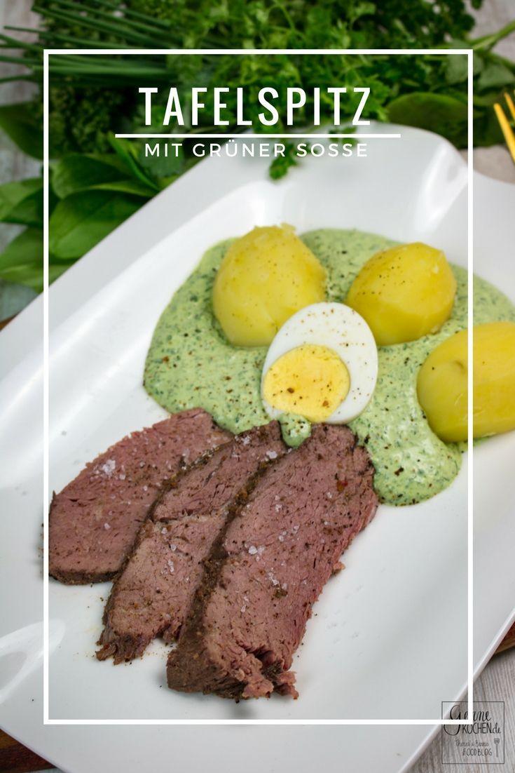 Tafelspitz und grüne Soße - ein Klassiker der deutschen Küche. Den Tafelspitz haben wir Sous-Vide gegart.