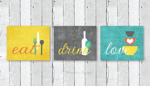 Hey, ho trovato questa fantastica inserzione di Etsy su https://www.etsy.com/it/listing/205567235/set-cucina-parete-art-print-mangiare