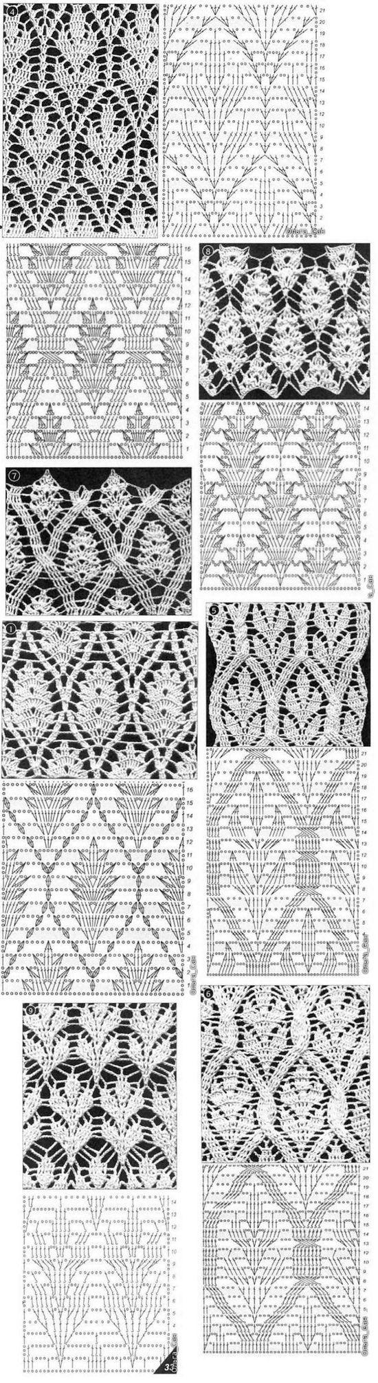 Häckel muster. Patron Ganchillo. Crochet pattern