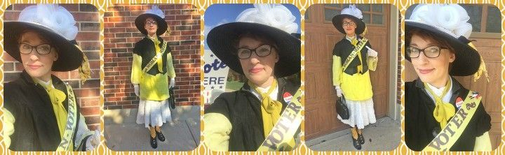 #YellowSashRevolution #iVoted #Suffragette #CivicDuty #LivingHistory