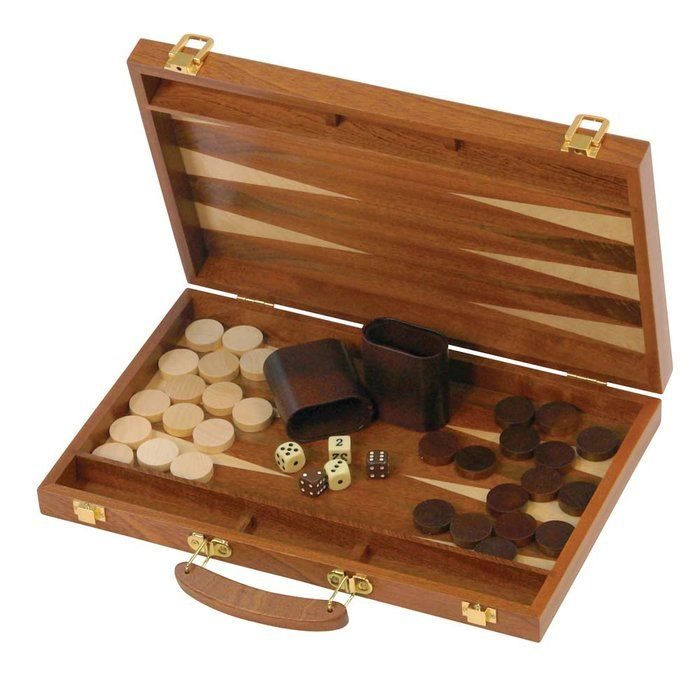 Finely crafted backgammon set will provide years of playing enjoyment.