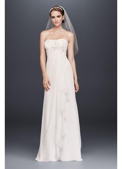 8fdd975b Draped Chiffon Sheath Wedding Dress with Beading WG3872 | Wedding ...