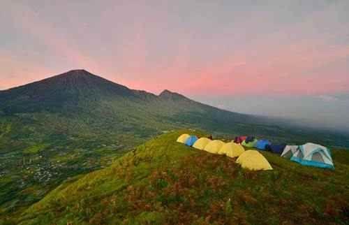 Mount Rinjani from Pergasingan hill Sembalun Lombok