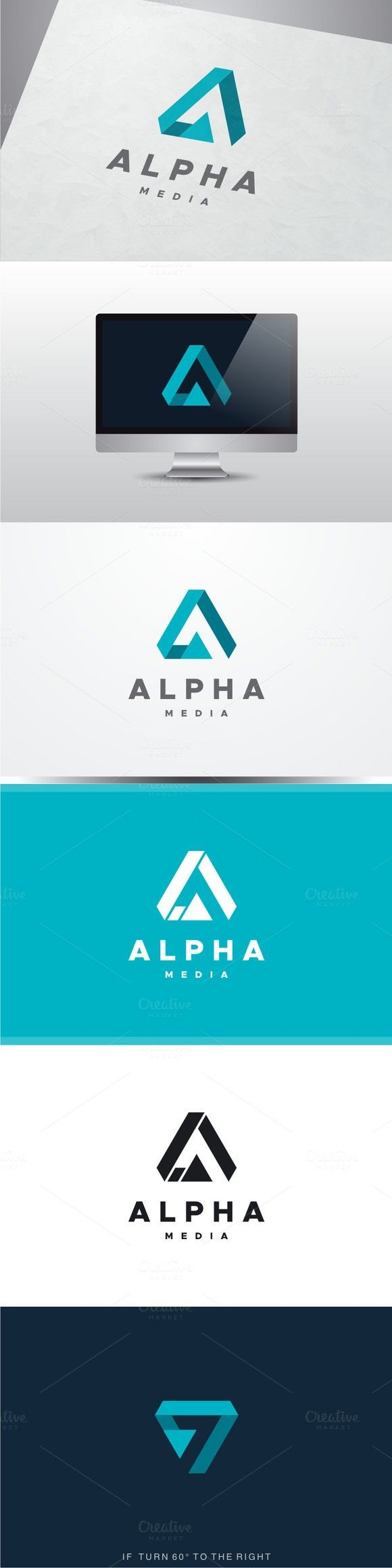 invitation letter for australibusiness visa%0A Alpha Media  Letter A Logo  Technology icons