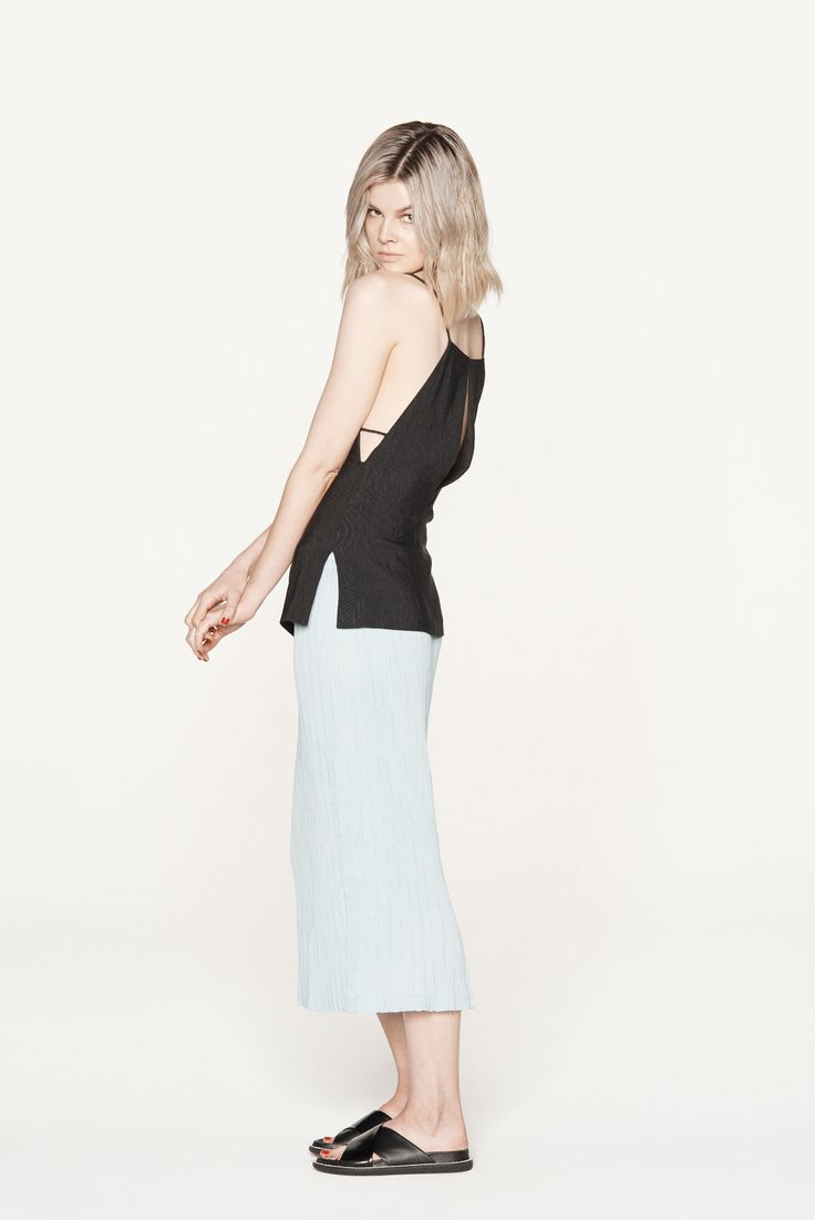 THIRD FORM RESORT 15 | PARTING CAMI #thirdform #fashion #streetstyle #minimal #trend #chic #cami #black