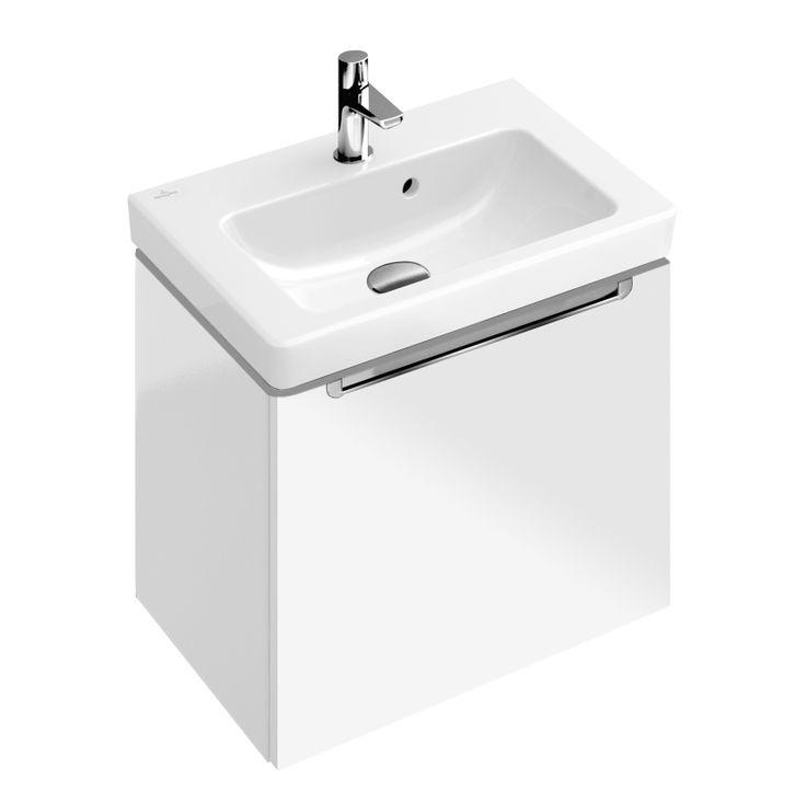 Villeroy & Boch Subway 2.0 Handwaschbecken-Unterschrank mit 1 Auszug glossy white - A68510DH   Reuter Onlineshop