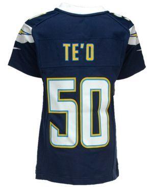 Nike Kids' Manti Te'o San Diego Chargers Game Jersey - Blue L