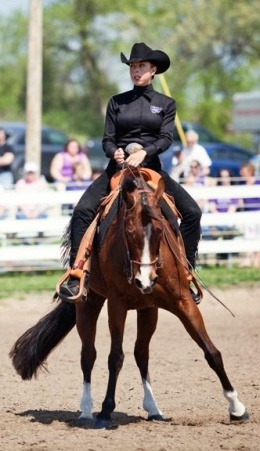 My photo from the Big 12 Equestrian Championship that was printed in the Kansas State Collegian