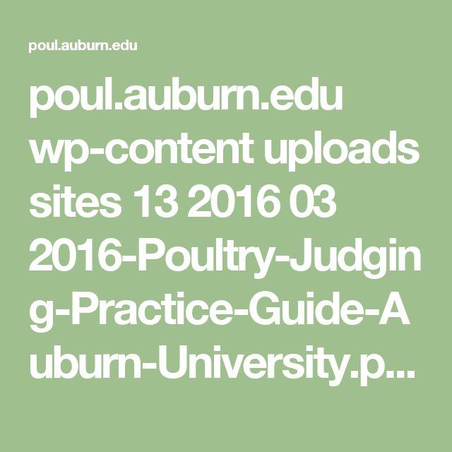 poul.auburn.edu wp-content uploads sites 13 2016 03 2016-Poultry-Judging-Practice-Guide-Auburn-University.pdf