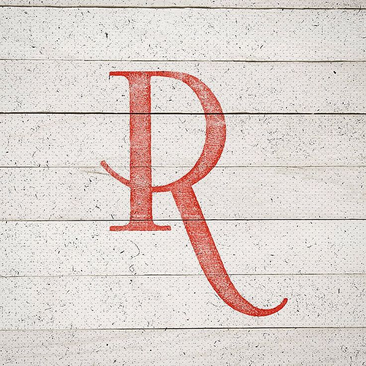 R by Doug Graphics logo design monogram R serif swoop lovely stamp