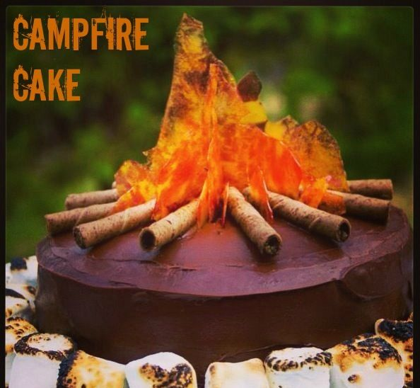 Love this :) #cool #campfire #cake #idea #birthday #desserts