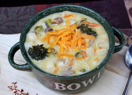 Broccoli and Cheese Pasta Soup