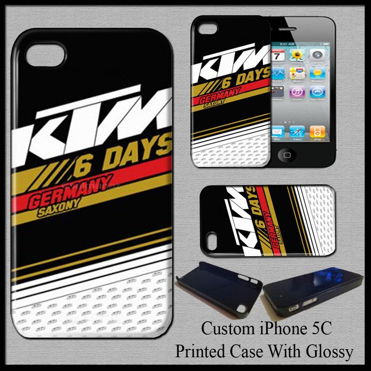 New Hot Design KTM Six Days Germany Saxony EXC Hard Case Cover For iPhone 5C