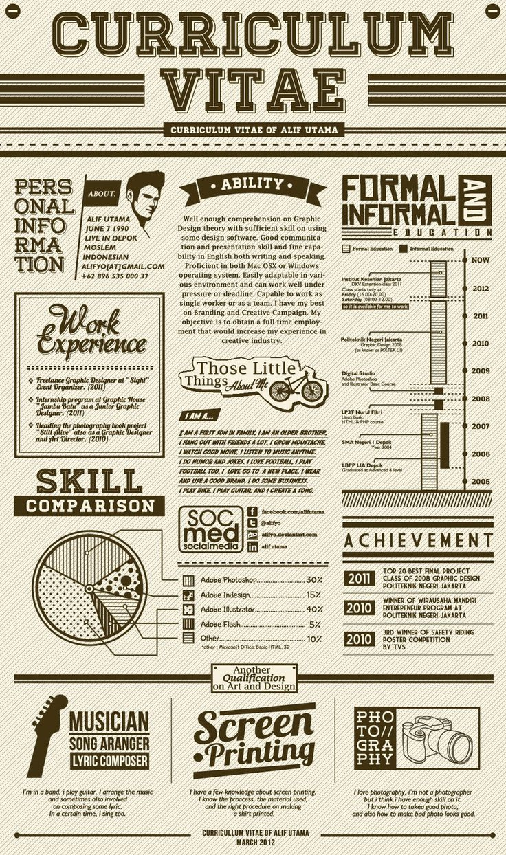 22 best Craft Ideas images on Pinterest | Creative resume, Resume ...