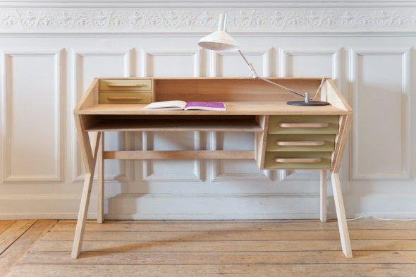 Image of Mr. Marius Origami wood desk with BoShop.