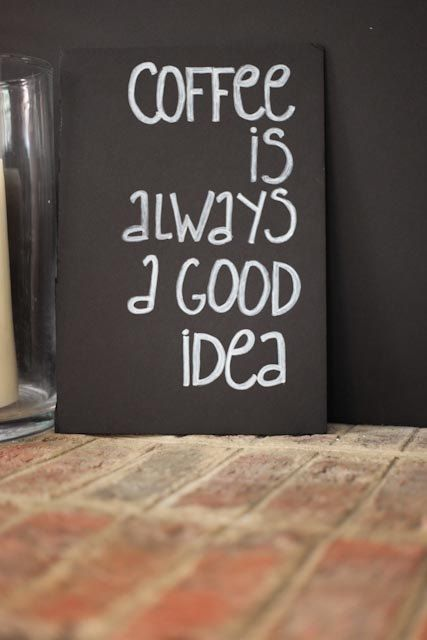 great gift idea for all the coffee drinkers I know! Decorative chalkboard signs by Sweetpeasparty on Etsy,