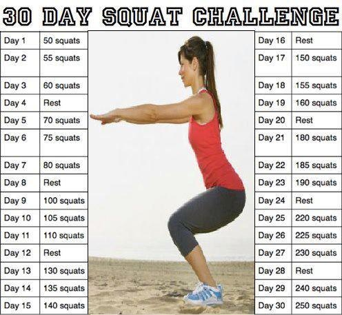 Squat ChallengeBody, Fit, Squats Challenges, Squat Challenge, Squatchallenge, 30 Day Squats, Weights Loss, Healthy Living, Workout