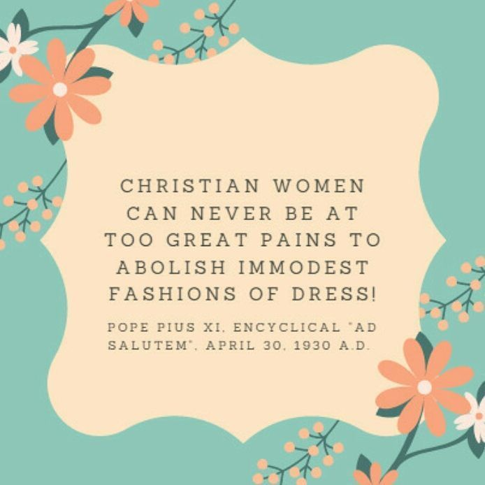 Christian modesty quote