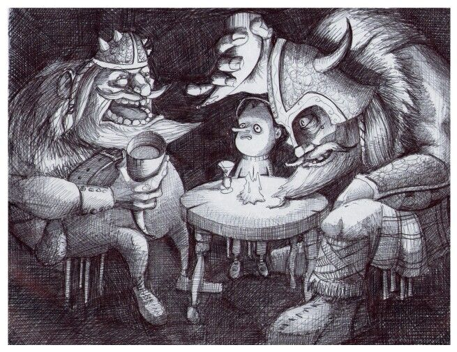 'The Celebration'. Illustration by Chris Harrendence