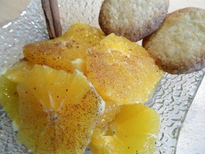 Salade d'orange et sablé à l'eau de fleur d'oranger