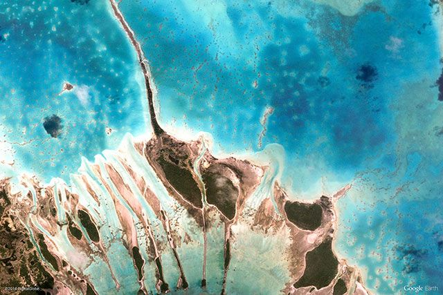 Tuamotus Islands, French Polynesia | 10 Most Beautiful Google Earth Aerial View Landscapes Images (With Wallpapers)