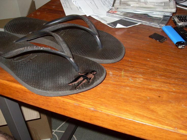 glued to flip-flops by Starkadhr on DeviantArt
