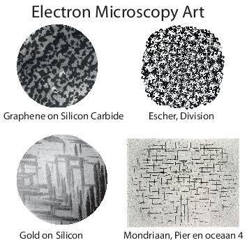 Low-energy electron microscopy (LEEM) images of the growth of single atomic layers are often beautiful works of abstract art. In fact, the resemblence with the works of renowned Dutch masters is so remarkable, it is almost as if the artists were prescient of today's technology. - Jaap Kautz