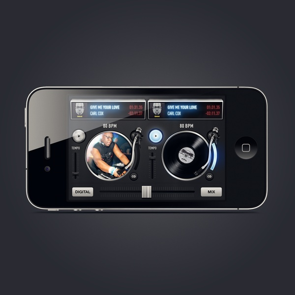 Carl Cox Mixer #apps #itunes #design #ui #application #iphone #ipod #ipad #macos #ios #music #dj #compositions #tracks