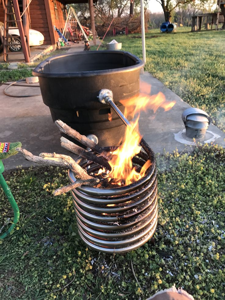 Build this wood fired hot tub today. Hillbilly hot tub