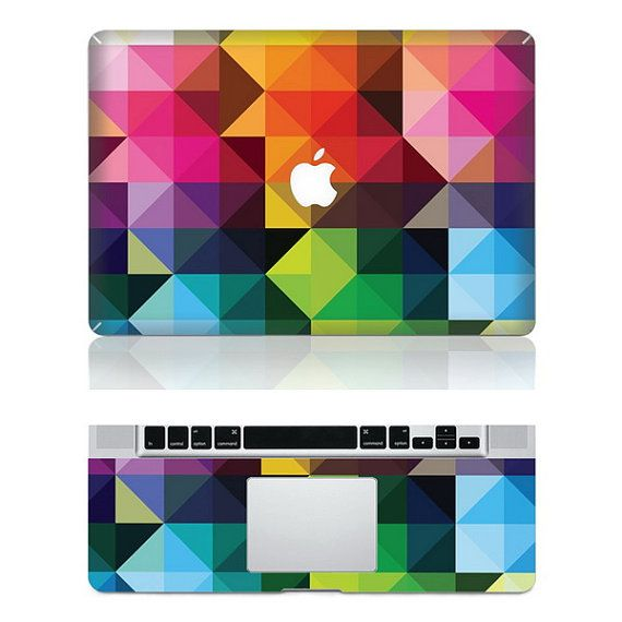 Diamond Color -- Macbook Protective Decals Stickers Mac Cover Skins Vinyl Case for Apple Laptop Macbook Pro/Macbook Air/iPad on Etsy, $16.80