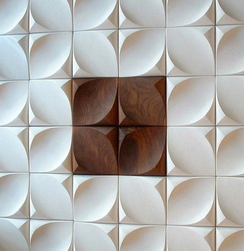 pan 02 Dune on your walls. Three dimensional wall panels from Canadian designers