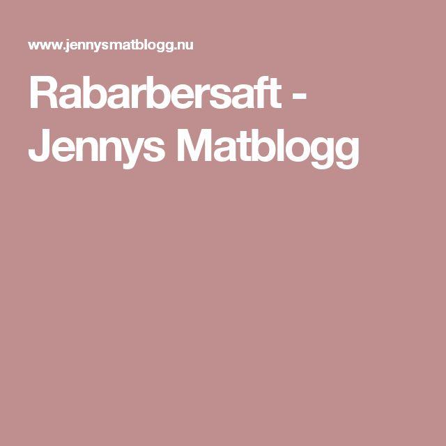 Rabarbersaft - Jennys Matblogg