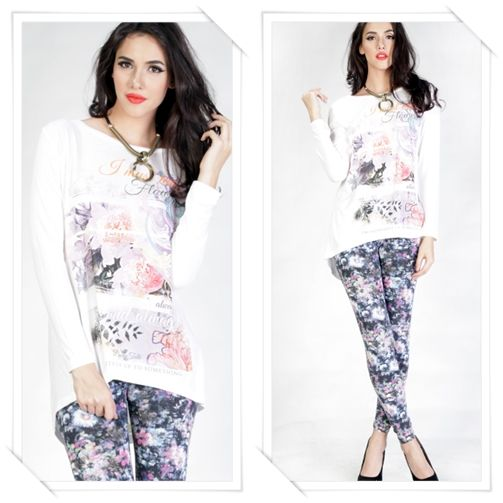 Always a happy day with this Always Flower Long Sleeves Tee IDR 239,900, click http://ow.ly/w0Tql