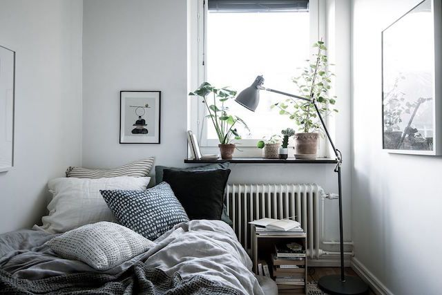 A white Swedish home with warm, natural touches