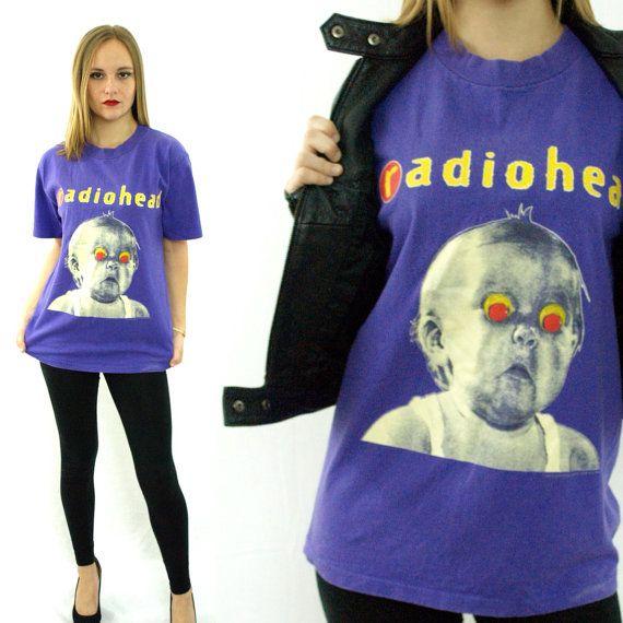 Vintage 90s RADIOHEAD Pablo Honey Tour T Shirt Sz L on Etsy, $300.00