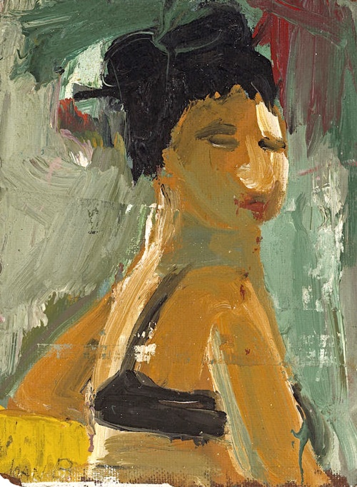 Joan Brown (American, 1938-1991) Portrait of Flo Allen, 1957