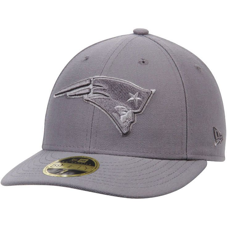 New England Patriots New Era Graphite League Basic Low Profile 59FIFTY Structured Hat - Gray - $27.99