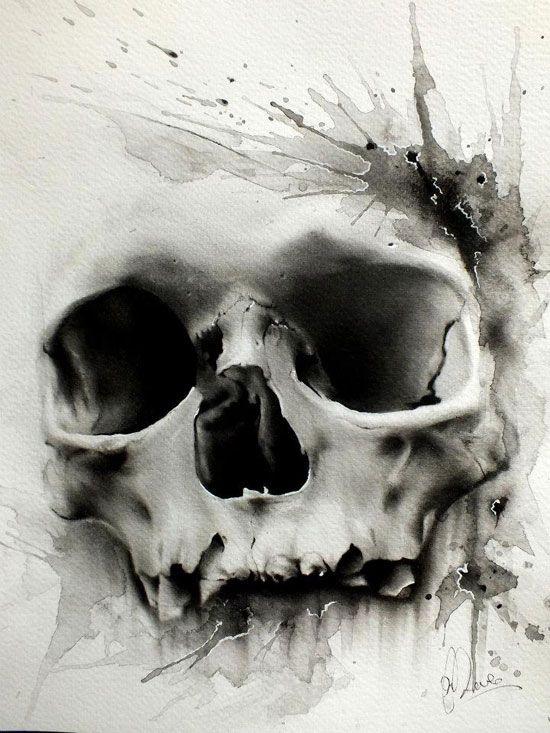 Skulls:  Glen Preece #skull.
