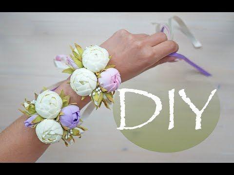 Бутоньерка с маленькими пионами из фоамирана DIY Tsvoric - YouTube